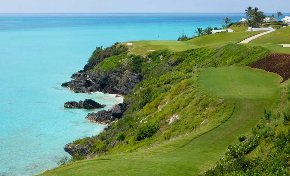 The signature hole at Port Royal is 16th, this par 3 is between a coastal cliff overlooking the Atlantic Ocean